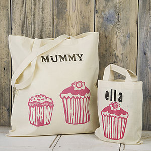 Printed Personalised Adult And Child Shopper - children's storage
