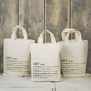 Personalised Definition Gift Bag