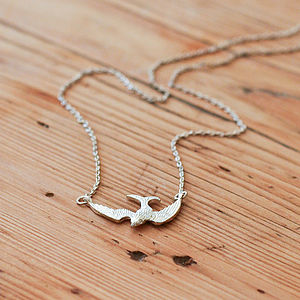 Pascal Mini Bird Necklace In Silver - necklaces & pendants