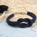 'Newlyn' Personalised Knot Bracelet