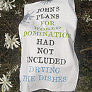 Personalised World Domination Tea Towel