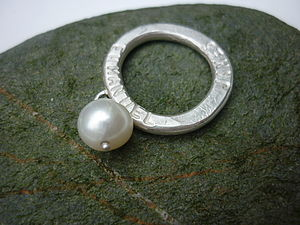 Personalised Silver And Pearl Ring - rings