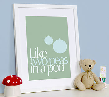'Two Peas In A Pod' Art Print
