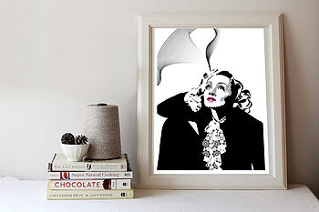 Marlene Dietrich Pop Art Print Or Canvas