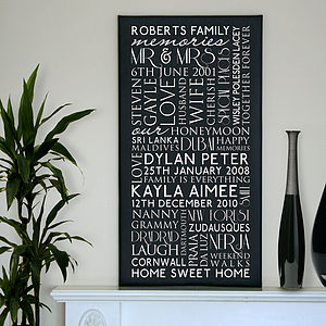 Personalised Family Best Memories Canvas - shop by subject
