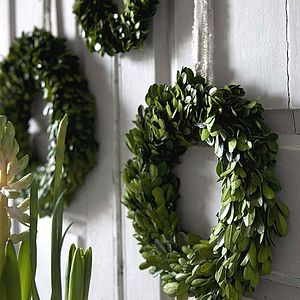 Spring Buxus Wreath - home accessories