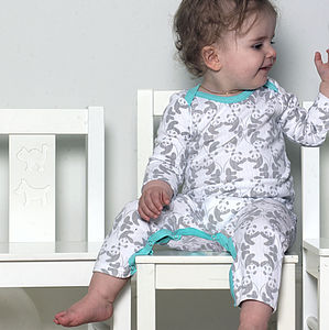 Panda Mates Sleepsuit - babygrows