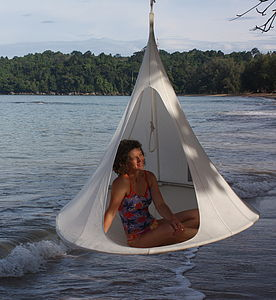 Hanging Canvas Cocoon - hammocks