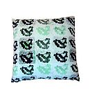 'Mumbai Mint Choc' Silk Cushion