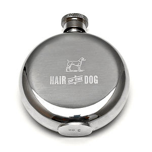 'Hair of The Dog' Engraved Hip Flask - flasks