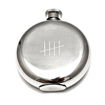 'Tick Marks' Hip Flask Large