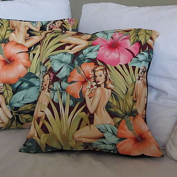 Tropical Girl Cushion Cover