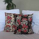Skulls And Roses Cushion Cover