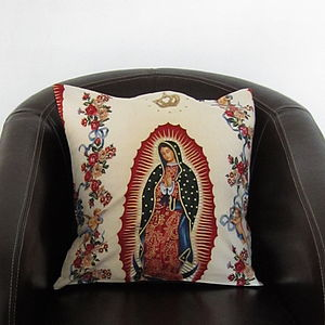 Our Lady Of Guadelupe Cushion Cover - cushions