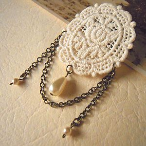 Lace Cameo Brooch - pins & brooches