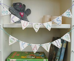Personalised Ceramic Bunting - home accessories