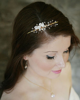 Crystal And Pearl Bridal Headpiece