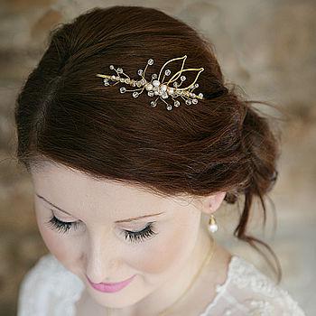 Leaf Silhouette Bridal Headpiece