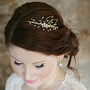Leaf Silhouette Bridal Headpiece