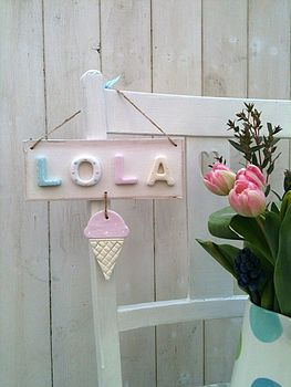 Personalised Ice Cream Plaque
