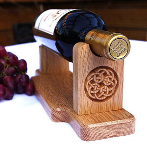 Personalised Oak Wine Bottle Holder