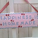 'Happiness Is Home Made' Ceramic Sign