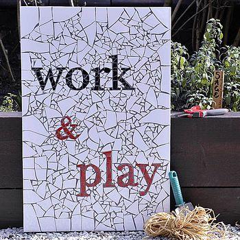 'Work And Play' Mosaic Wall Art