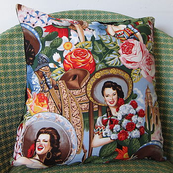 Las Senoritas Cushion Cover