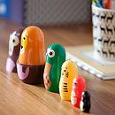 Set Of Matryoshka Animal Character Dolls