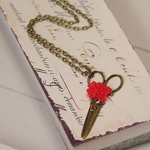 'A Cut Above The Rest' Scissors Necklace - charm jewellery