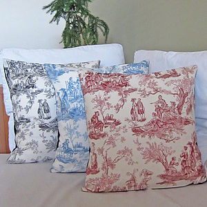 Mexican Toile De Joie Cushion Cover - bedroom