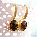 Mocha Gold Faceted Glass Earrings