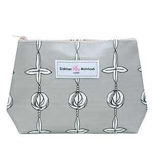 Daisy Grey Small Make-Up Bag - make-up & wash bags
