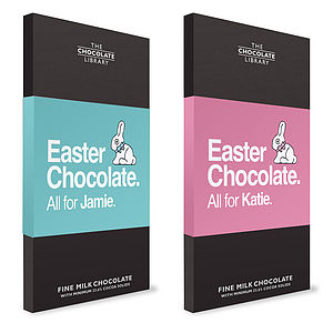 Personalised Easter Chocolate Bar - easter chocolates