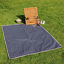 Extra Large Picnic Rug Navy