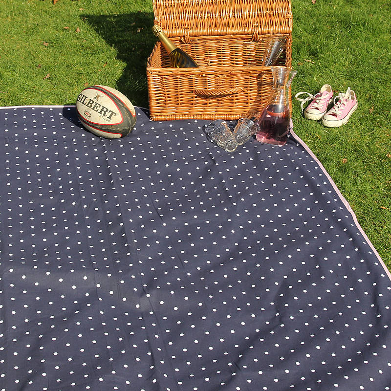 Extra Large Picnic Rug Navy By Just A Joy