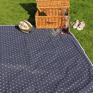 Extra Large Blue Picnic Rug - picnics & barbecues