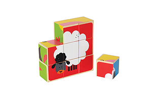Animal Block Puzzle - children's easter