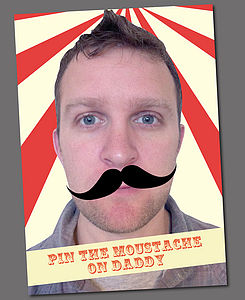 Personalised Pin The Moustache Game - baby & child