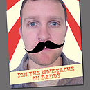 Personalised Pin The Moustache Game
