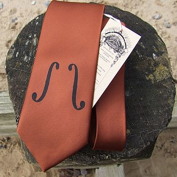 Screen Printed Violin Tie