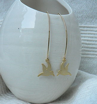 Birdie Earrings: gold