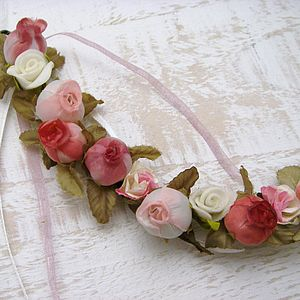 Personalised Rosebud Bridal Horseshoe - corsages