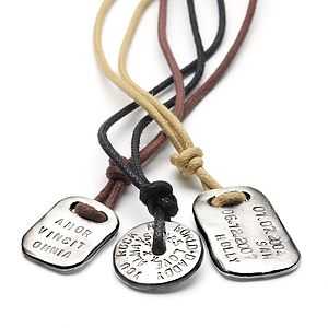 Men's Personalised Tablet Necklace