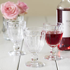 Ribbed Wine Glass - drink & barware