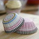 pink stripe cupcake cases