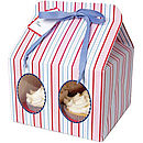 Red, White and Blue  Large Cupcake Boxes