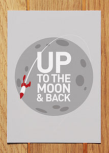 'Up To The Moon & Back' Postcard - wedding cards & wrap