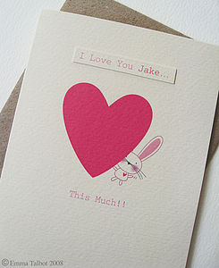 Personalised Anniversary Card 'I Love You' - wedding, engagement & anniversary cards