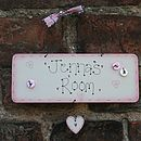 Personalised Handmade Wooden Name Plate